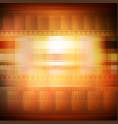 Old movie background sepia toning vector