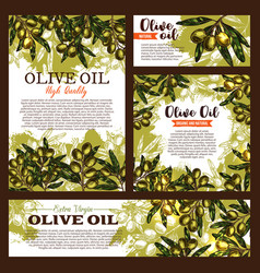 olive oil product olives poster vector image