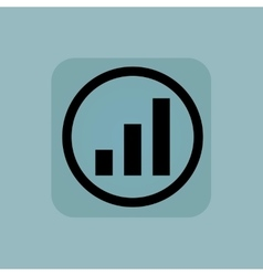 Pale blue volume scale sign vector