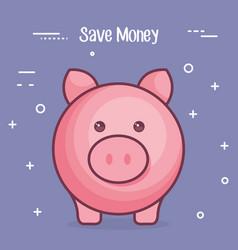 Piggy save money icon vector