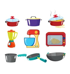 Pots and pans series vector image