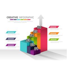 Presentation infographic stair design vector