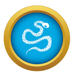 Python snake icon blue isolated vector