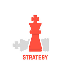 Red chess king with fallen figure vector