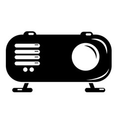 retro radio icon simple black style vector image