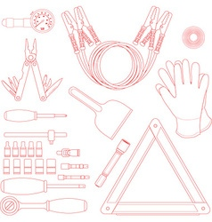 Road Kit Set vector