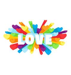 Romance heart spray love greeting card vector