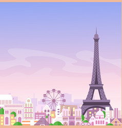 romantic paris view france vector image