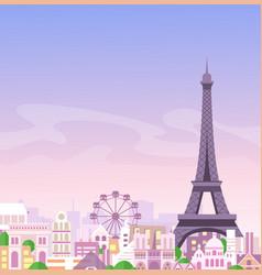 Romantic paris view france vector