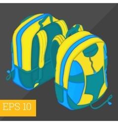 school backpack isometric vector image