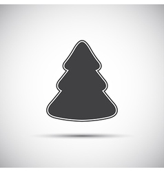 Simple icon of christmas tree on white background vector image