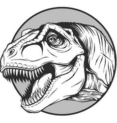 Sketch of a cartoon dinosaur vector