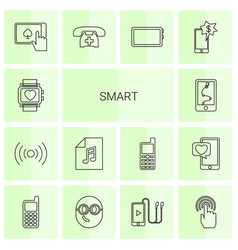 smart icons vector image