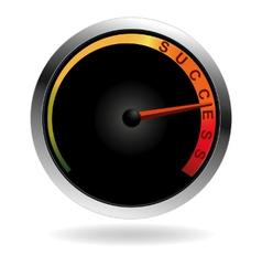 Speedometer with red needle vector