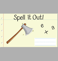 Spell it out axe vector