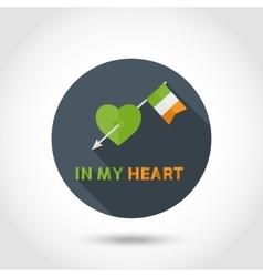 St Patrick Day arrow vector image