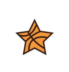 Star basketball sports academy logo design vector