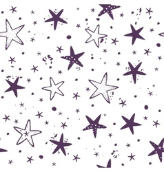 Star seamless background vector