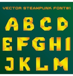 steampunk alphabet for design vector image vector image