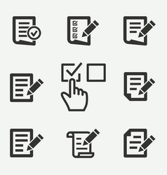 Survey icon vector