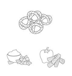 Taste and crunchy symbol vector