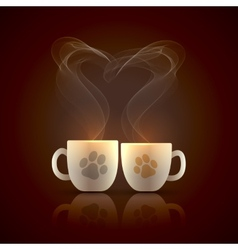 Two cups vector image