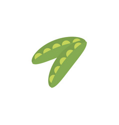 Vegetable pea in pod flat style icon vector