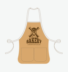 Vintage baker apron with mill emblem vector