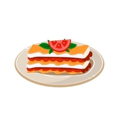 Waffle with Tomato vector