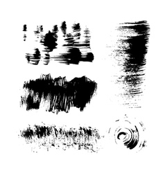 Hand-drawing texture stiff brush strokes vector image vector image