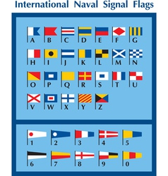 International Naval Signal Flags vector image