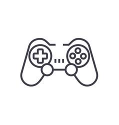 joystickgamepad line icon sign vector image vector image