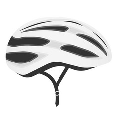 white bicycle helmet isolated on a white vector image vector image