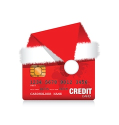christmas credit card vector image vector image