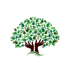 Friendship connection tree image vector image