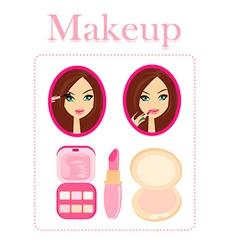 Make-up girl vector image vector image
