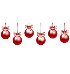 red baubles vector image