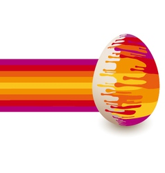 Abstract colorful Easter egg vector image vector image