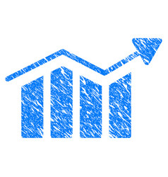bar chart trend grunge icon vector image vector image