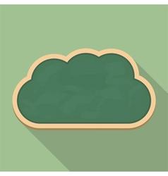 Blackboard Cloud Icon vector image vector image