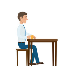 businessman at coffee break flat vector image vector image