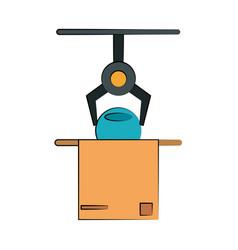 cardboard box industry icon image vector image vector image