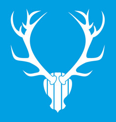 deer antler icon white vector image vector image