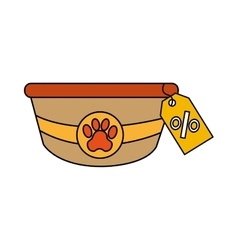 dish pet isolated icon vector image vector image