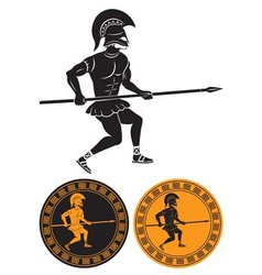 gladiator with a spear vector image