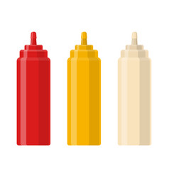 ketchup mustard and mayo vector image