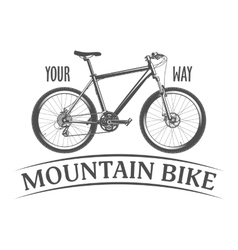 Mountain bike isolated on white background vector