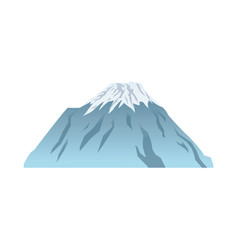snow peak mountain travel tourism vector image