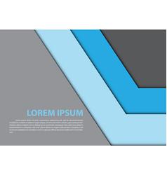 the abstract blue arrow gray design modern vector image vector image