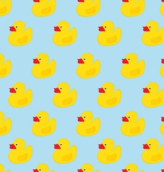 Duck seamless pattern vector image vector image